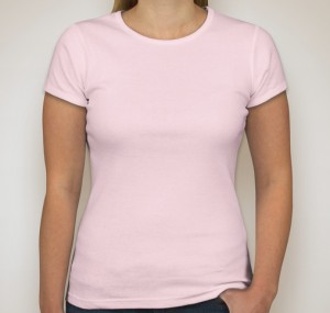 Anvil Ladies Scoop Neck T-shirt – Frost Pink